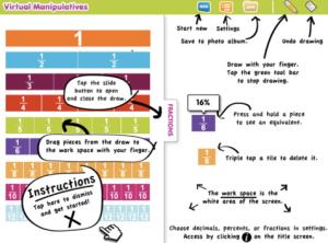 This app allows students to work with fractions bars without all of the fuss.