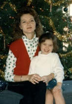My mom and me Christmas 1993