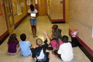 Nyasia teaches about Harriet Tubman