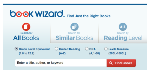 Scholastic Book Wizard allows students to check a novel's reading level
