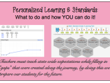 Personalized Learning & Standards:  What to do and how you can doit!