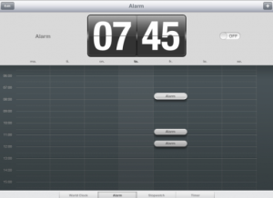 Set an alarm on a student iPad