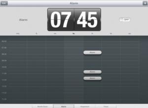 Set an alarm on a student iPad