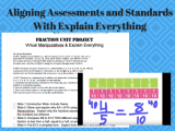 Aligning Assessments to Standards With Explain Everything