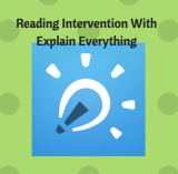 Reading Intervention with ExplainEverything